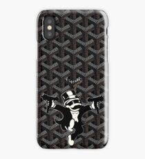 Black Goyard Monopoly iPhone Case