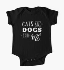 Cats and Dogs for me One Piece - Short Sleeve