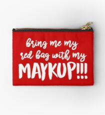 Red Bag with Maykup!!! Studio Pouch