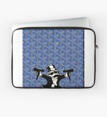 Blue Goyard Monopoly Laptop Sleeve