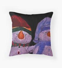 snow friends Throw Pillow