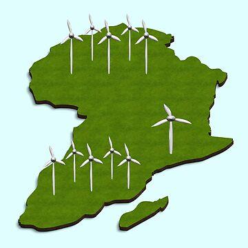 Africa wind turbines by funkyworm