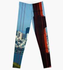 Iconic San Fransisco - Downtown Framed by Red Steel Leggings