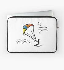 Kiteboarding, sketch for your design Laptop Sleeve
