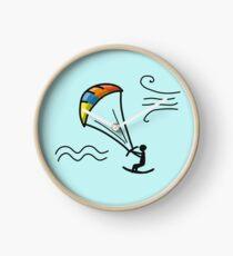 Kiteboarding, sketch for your design Clock