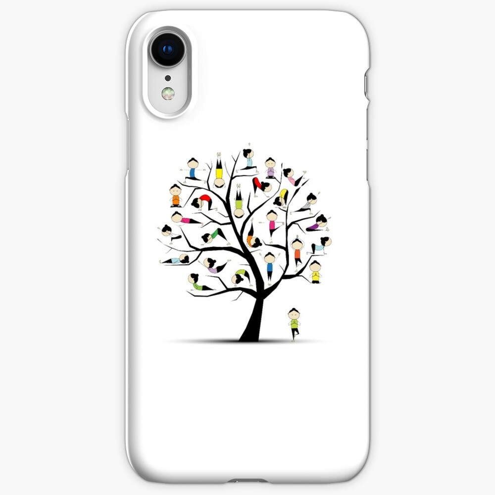 Yoga practice, tree concept iPhone Cases & Covers
