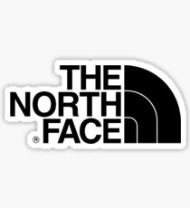 The North Face logo Sticker