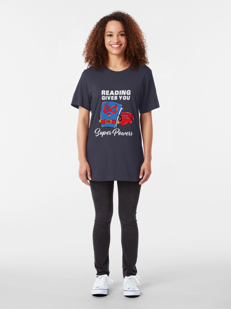 Alternative Ansicht von Reading Gives You Super Powers - Funny Super Hero Gift Slim Fit T-Shirt