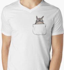 Totoro in Your Pocket Men's V-Neck T-Shirt
