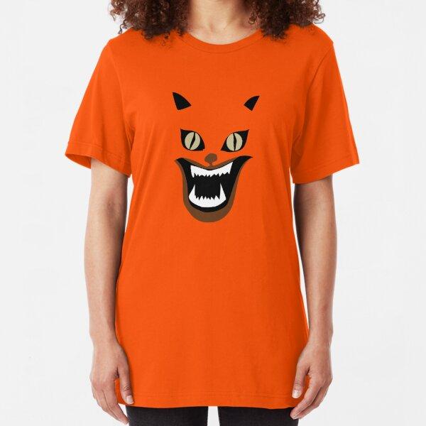 Hausu Evil Kitty Slim Fit T-Shirt