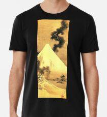 HOKUSAI, The Dragon Of Smoke Escaping From Mount Fuji Men's Premium T-Shirt