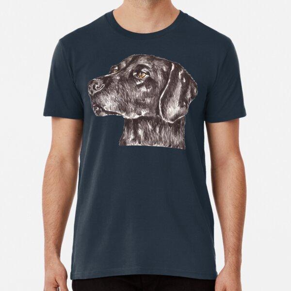 Watercolor Black Labrador  Premium T-Shirt