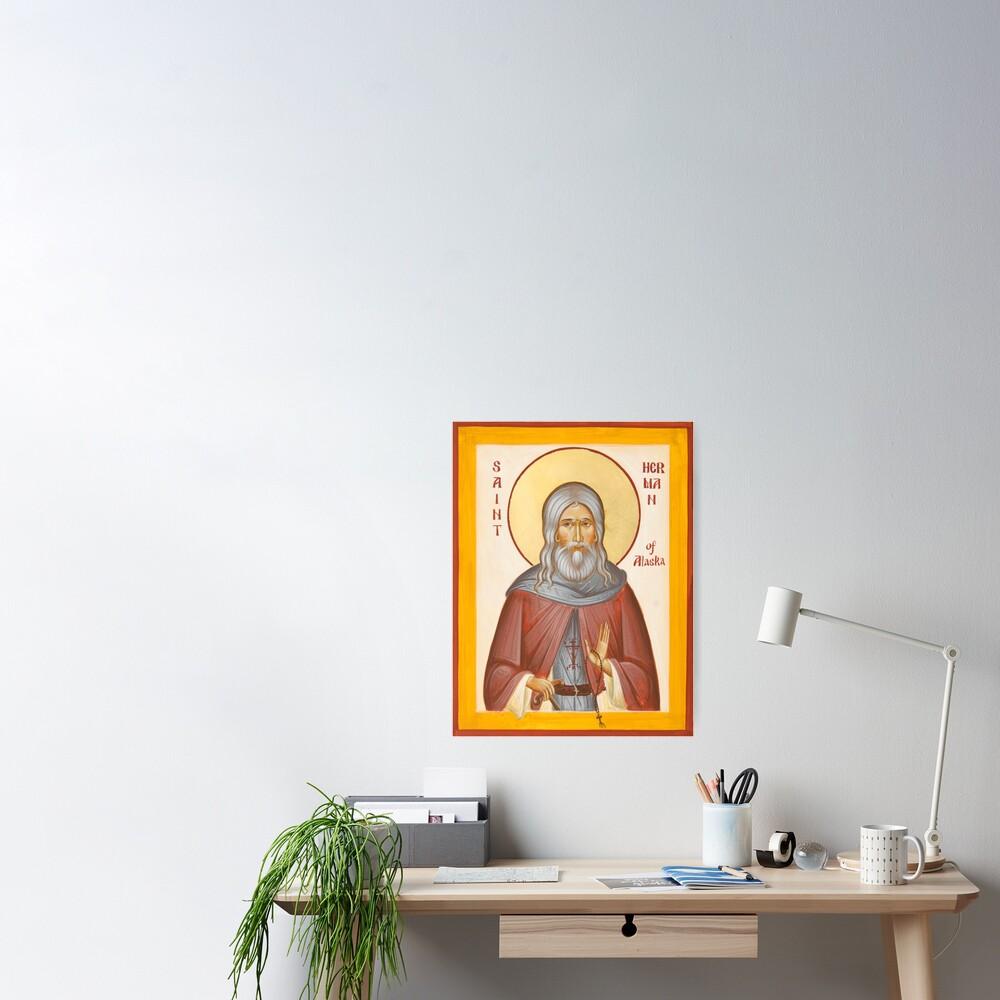 St Herman of Alaska Poster