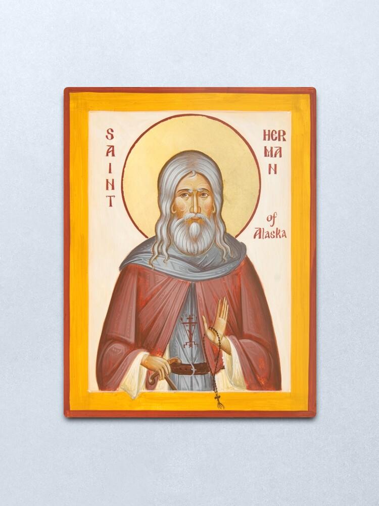 Alternate view of St Herman of Alaska Metal Print