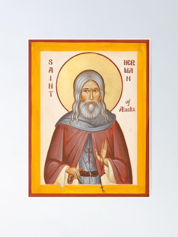Alternate view of St Herman of Alaska Poster