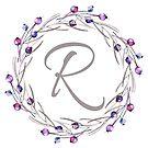 Monogramm-Buchstabe R | Personalisiert | Aquarell Design von PraiseQuotes