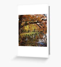 Autumnal lake scene Greeting Card