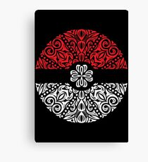 Floral Pokeball Canvas Print