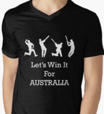 Let's Win It for Australia! Mens V-Neck T-Shirt