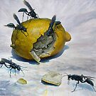 Lemon and Mud Daubers by Joe Helms