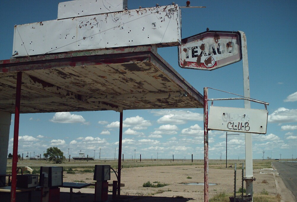 Old Route 66 Garage Adrian by Paul Butler