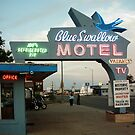 Blue Swallow Motel Dusk Tucumcari by Paul Butler