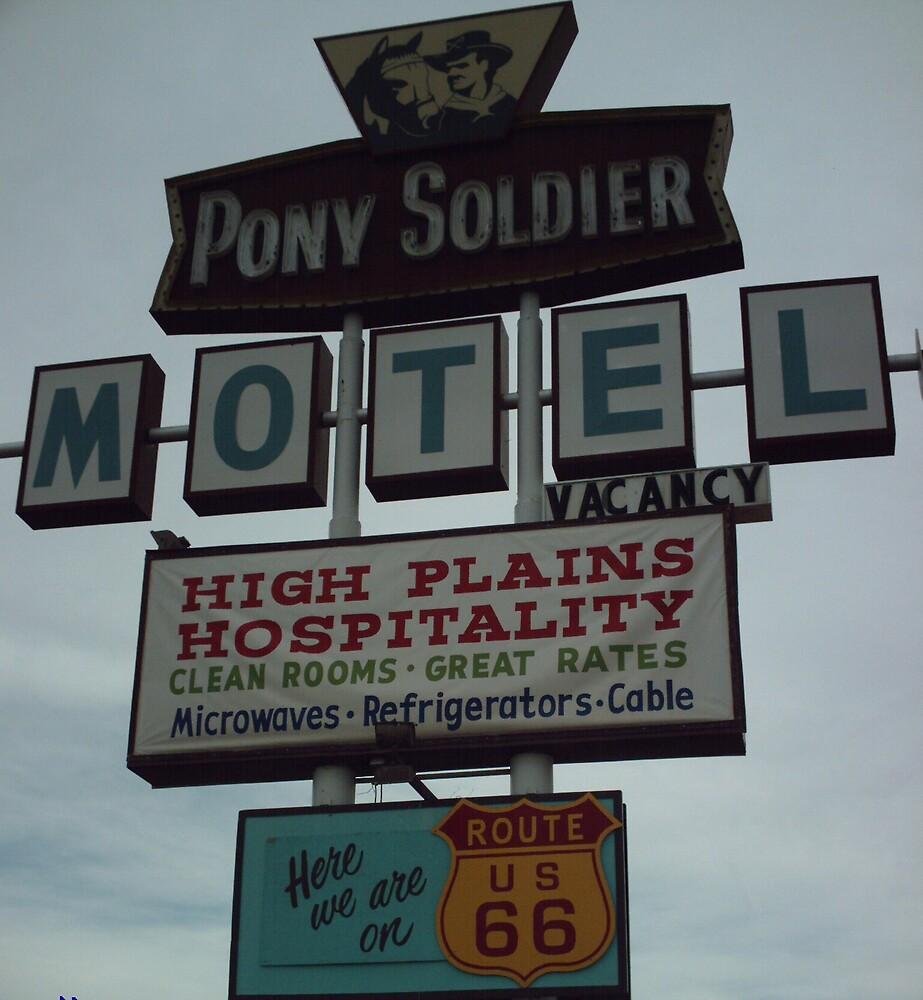 Original Motel Sign Tucumcari by Paul Butler