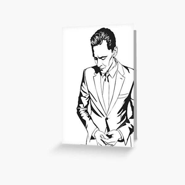 The Night Manager Tom Hiddleston in Smart casual Greeting Card