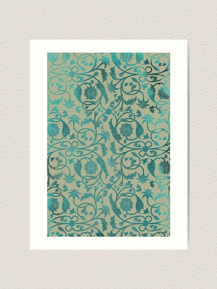 Alternate view of Blue Lotus Pattern  Art Print
