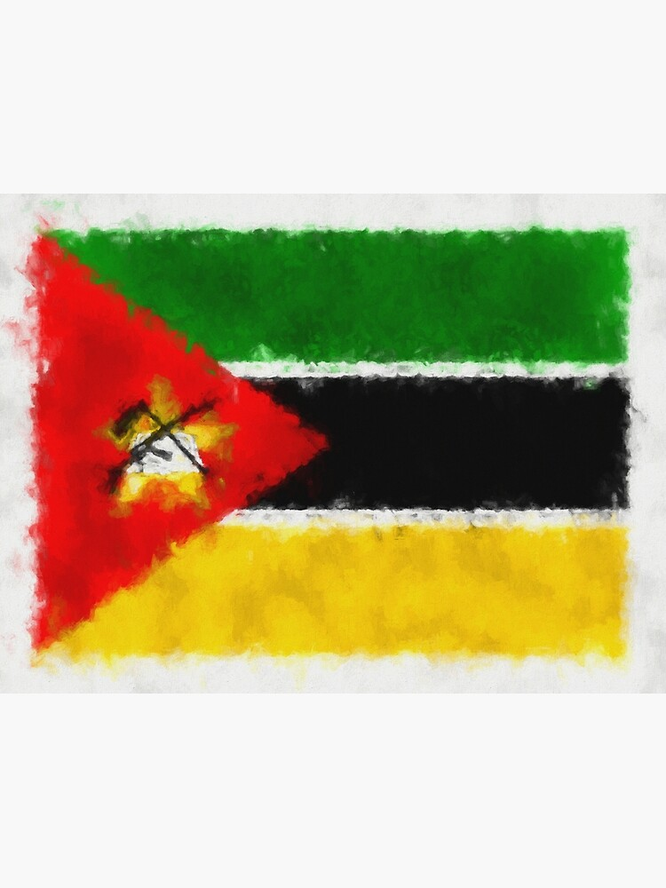 Mozambique Flag Reworked No. 66, Series 5 by 8th-and-f