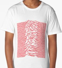 Joy Division - Unknown Pleasures (Red Lines) Long T-Shirt
