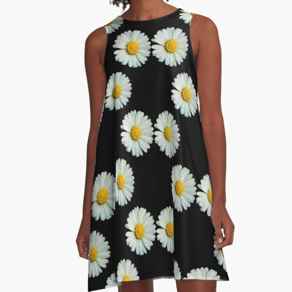 Two white daisies A-Line Dress