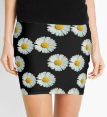 Two white daisies Mini Skirt