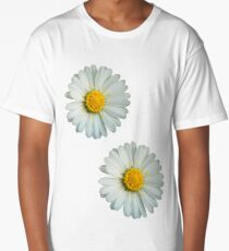 Two white daisies Long T-Shirt