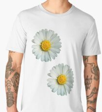 Two white daisies Men's Premium T-Shirt