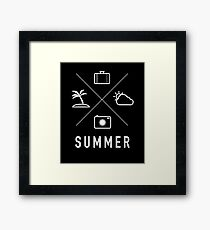 Summer - Coconut Tree, Camera, Shots, Clouds, Baggage, Water, Summer, Fun, Sun, Vacation, Holiday, Friends, Sports, Awesome Framed Print