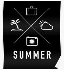 Summer - Coconut Tree, Camera, Shots, Clouds, Baggage, Water, Summer, Fun, Sun, Vacation, Holiday, Friends, Sports, Awesome Poster