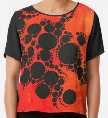 Red Hot by Amelia Caruso Chiffon Top
