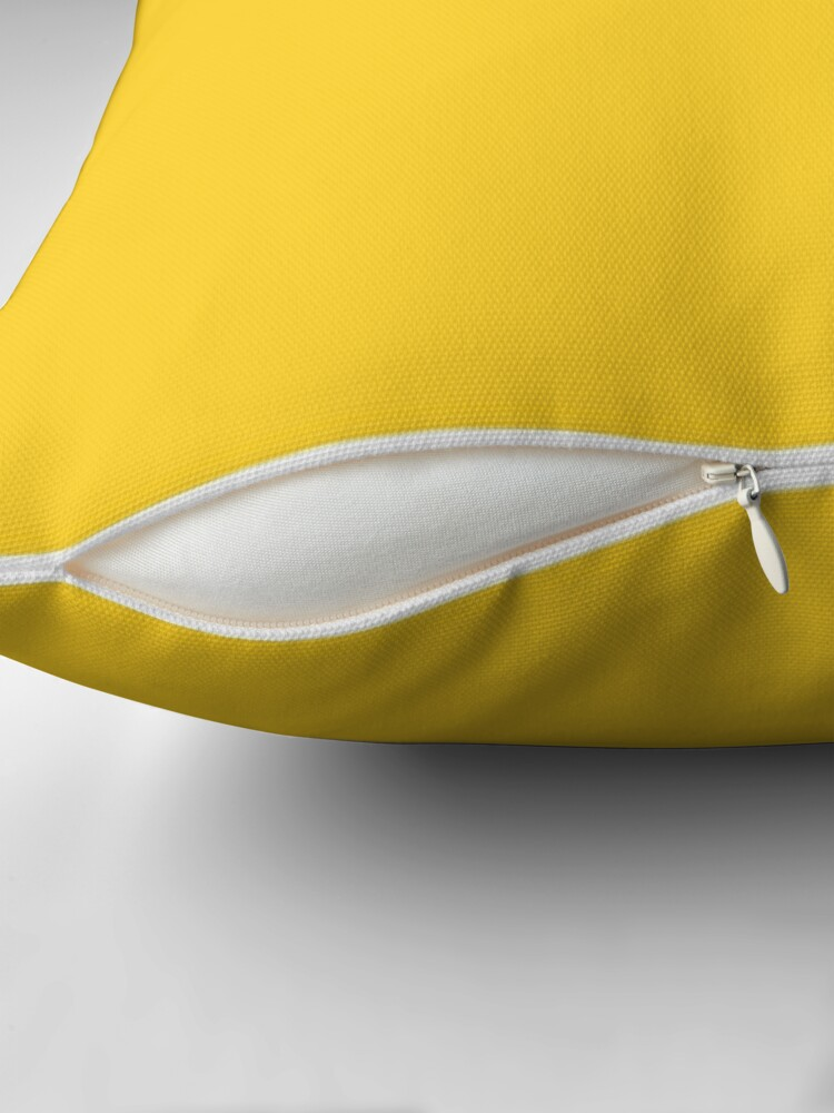Alternate view of Yellow / Yellow (NCS) Solid Color Throw Pillow