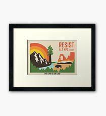 Support ALT NPS Framed Print