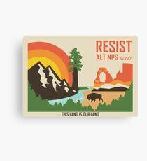 Support ALT NPS Canvas Print