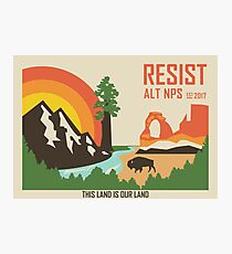 Support ALT NPS Photographic Print