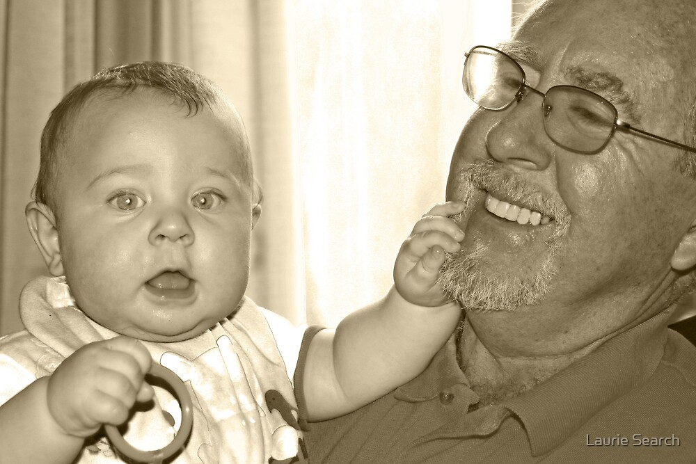 Ryan and His Grandpa by Laurie Search