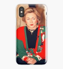 Hillary Clinton Christmas Sweater  iPhone Case/Skin