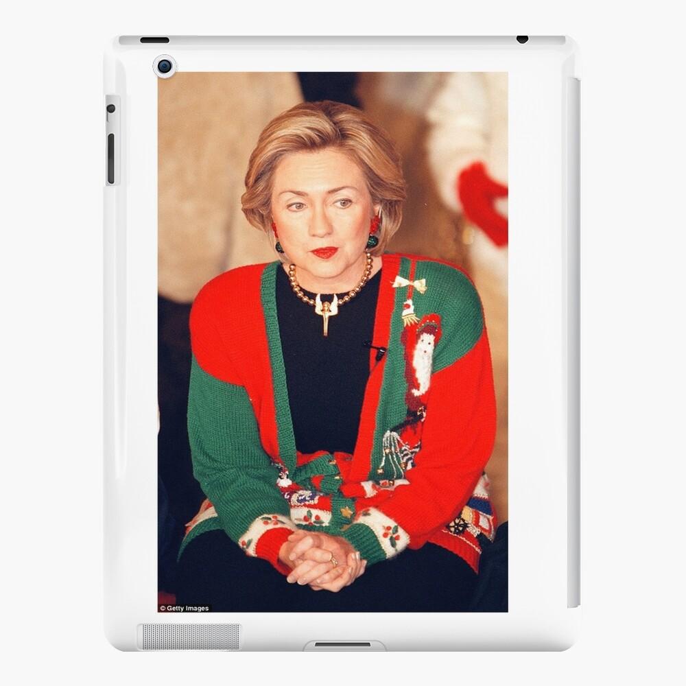 Jersey de Navidad de Hillary Clinton Funda y vinilo para iPad
