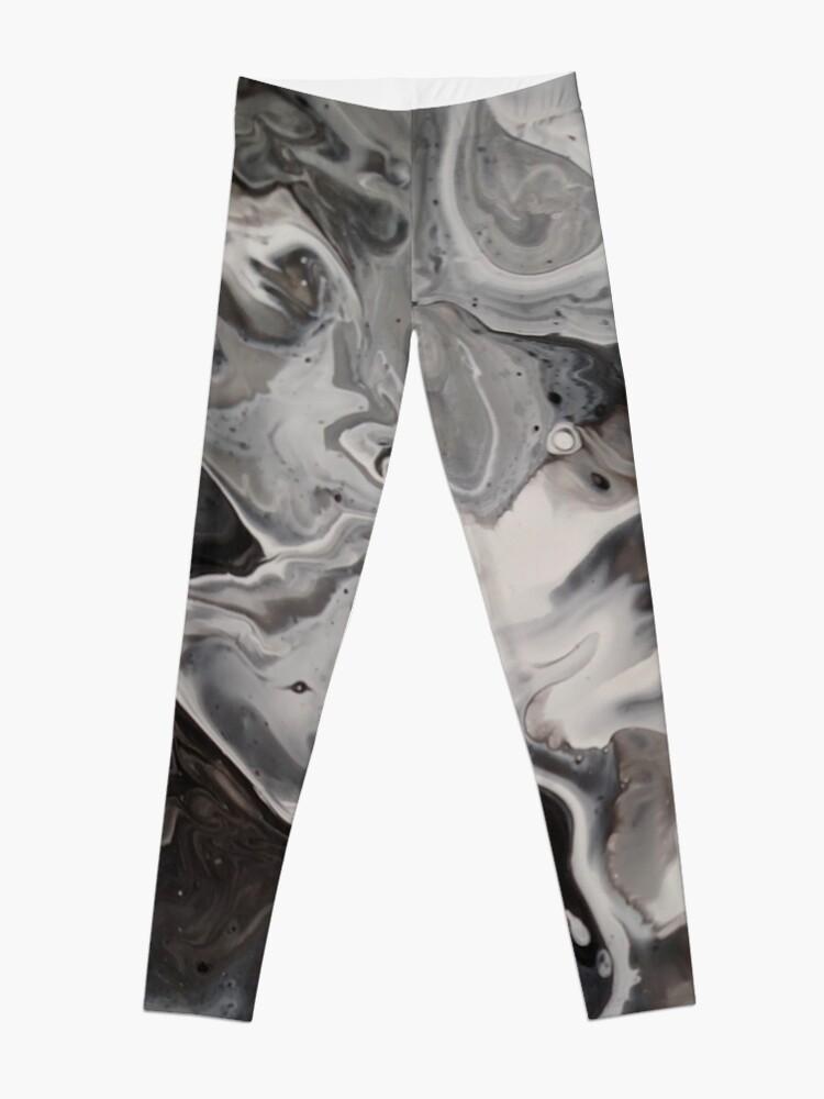 92dbbb8b1804d Silver, Black and White Fluid Acrylic Art