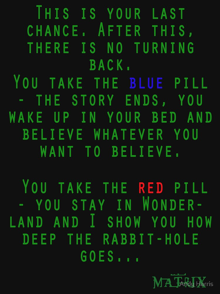 Image result for red or green pill
