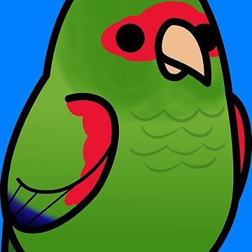 ¡Demasiadas aves! - Amazon con gafas rojas de MaddeMichael