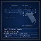 Jyn Erso's Pistol Blueprint (A180) by nothinguntried