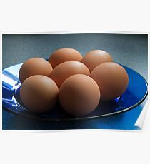 Eggs on a plate Poster